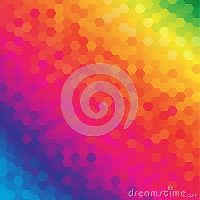 Bright Colored Hexagonal Honeycomb Abstract Background