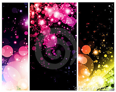 Bright colorful abstracts