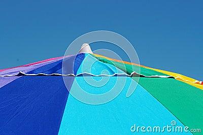 Bright colorful beach umbrella