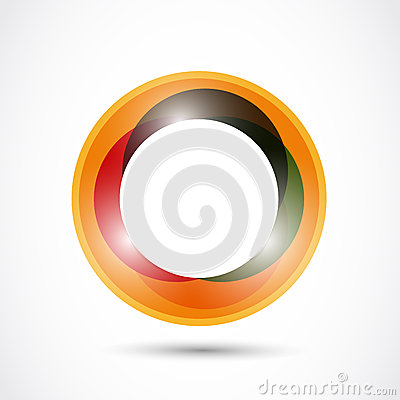 Bright colorful circle