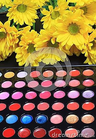 Bright colorful cosmetics
