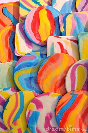 Bright colorful lollipops