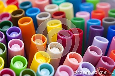 Bright colorful pens