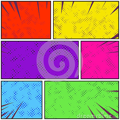 Free Bright Colorful Retro Style Pop Art Comic Page Strip. Abstract D Royalty Free Stock Photos - 99101768