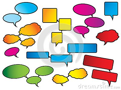 Bright and colorful speech bubbles