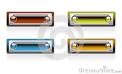Bright colour Rectangular panels