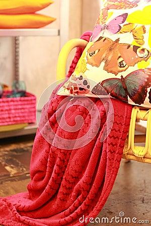 Bright colourful cushion