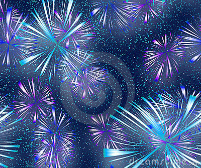bright colourful Fireworks