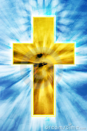 Bright cross on heaven