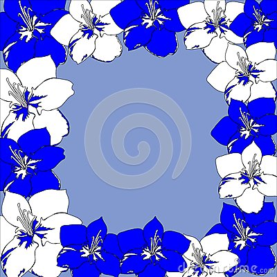 Bright dark blue flowers