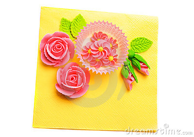 Bright decoration in happy colors, isolated.