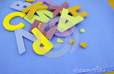 Bright different color of a letter of the alphabet Stock Photo
