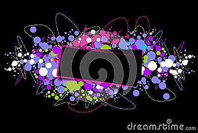 Bright disco frame