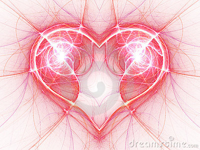 Bright electric current heart