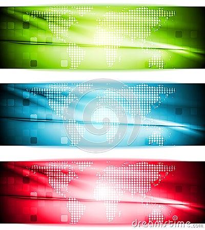 Bright elegant hi-tech banners