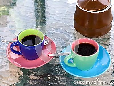 Bright espresso cups