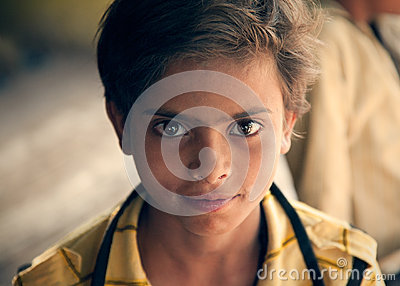 Bright eyes of happy indian child Editorial Photo