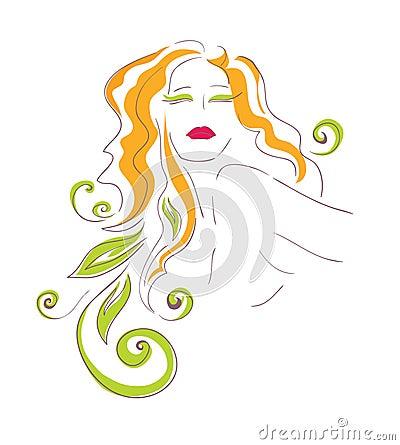 Bright feminine image