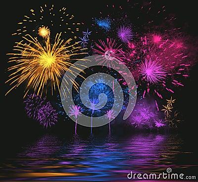 Free Bright Firework Stock Image - 1628661
