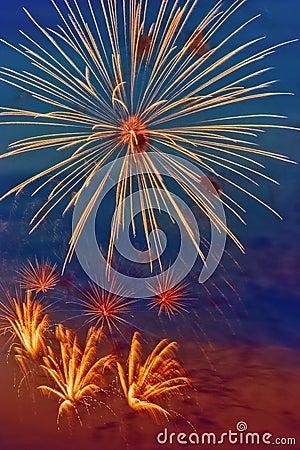 Bright firework