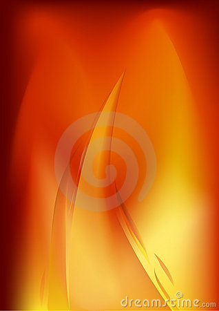 Bright flame background illustration