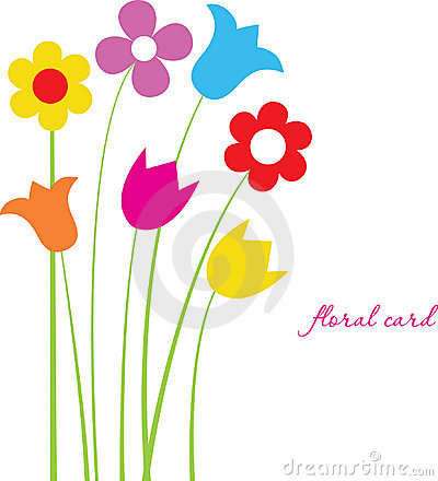 Bright floral card with