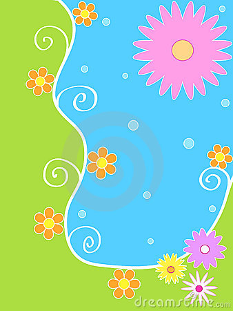 Free Bright Floral Design Stock Images - 1824364