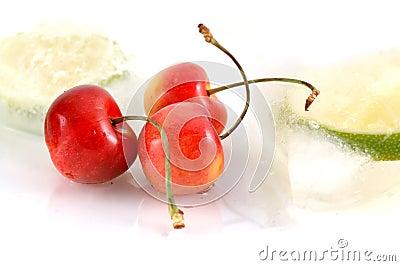 Bright fresh cherries - closeup