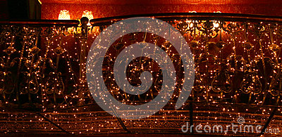 Bright garlands with lights