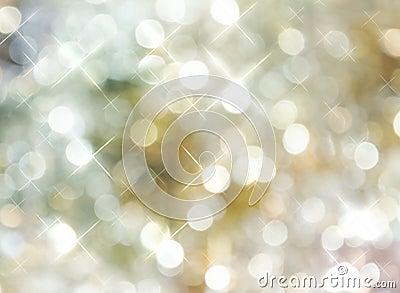 Bright Golden Silver Dot Background