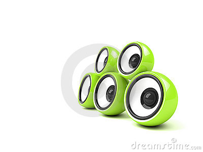 Bright green audio system