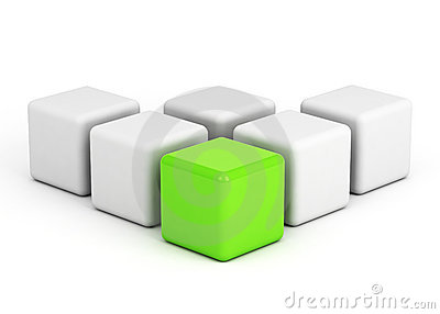 Bright green box leadership