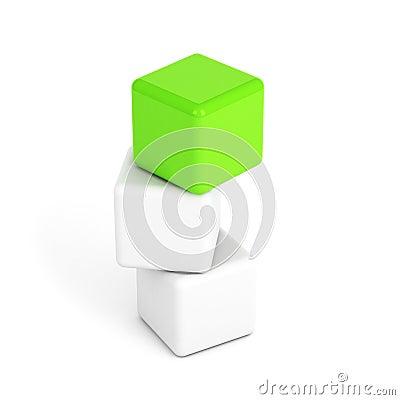 Bright green box leadership concept