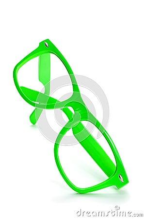 Bright Green Eyeglass Frames : Bright Green Eyeglasses Stock Photo - Image: 50310212
