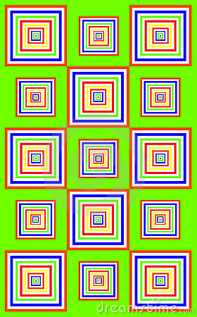 Funky green squares