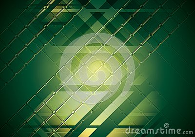 Bright green hi-tech background. Vector design