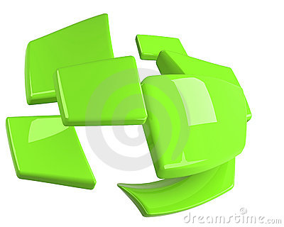 Bright green isolated rectangles