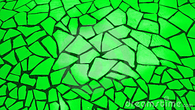 Bright green mosaic stones