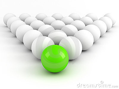 Bright green sphere