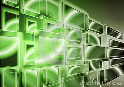 Bright green technology design. Vector