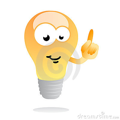 Free Bright Idea Light Bulb Mascot Royalty Free Stock Photography - 10684077