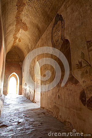 Ancient Murals in Hallway
