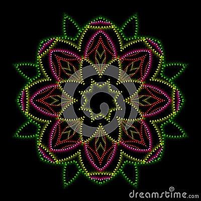 Bright lights floral mandala