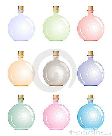 Bright magic bottle