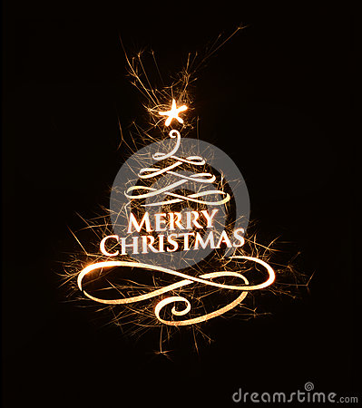 bright merry christmas greeting with text image 44520057
