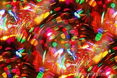 Bright mini lights thru wine glass