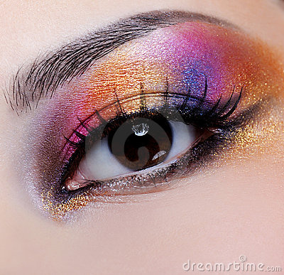 Free Bright Multicoloured Make-up Royalty Free Stock Photos - 9404318