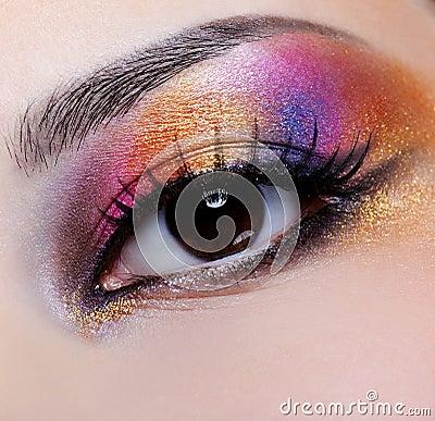Free Bright Multicoloured Make-up Royalty Free Stock Photos - 9404318