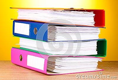 Bright office folders