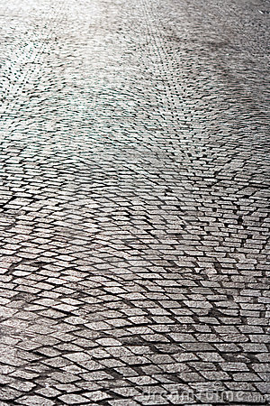 Free Bright Old Brick Paved Road Stock Photo - 13587090